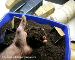 Photo of compost potting soil ready for potting mix