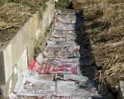 Photo of using pinebark to mulch walkways in vegetable garden