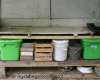 Photo of crude but effective home made potting table