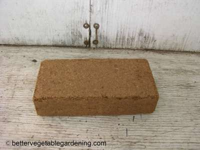1.4 Quart block of coconut coir ready for rehydrating