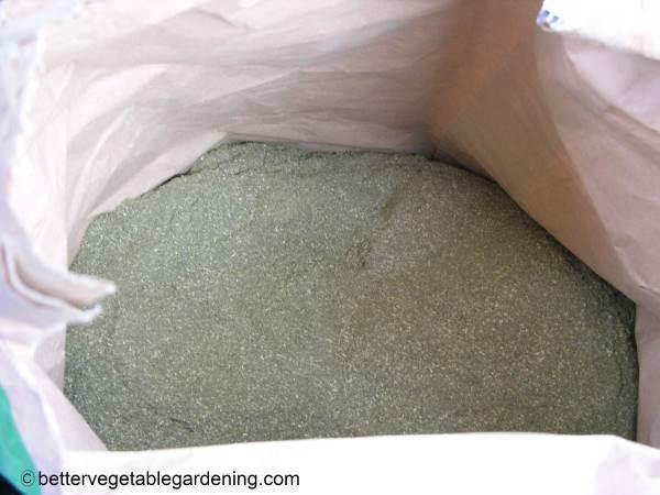 Bag of alfalfa-meal-fertilizer