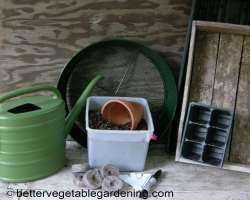 Photo of seed raising equipment